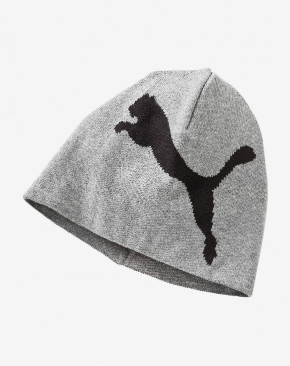 detail ESS Big Cat Beanie medium gray heather