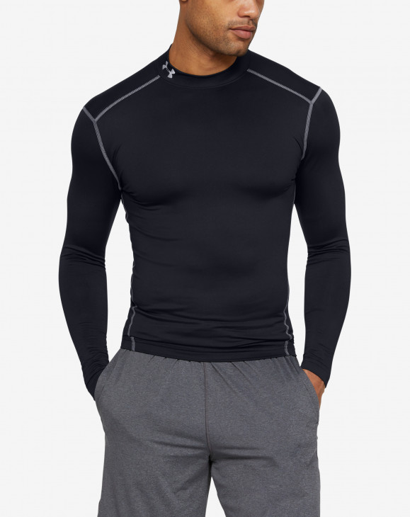 detail UA CG ARMOUR MOCK-BLK