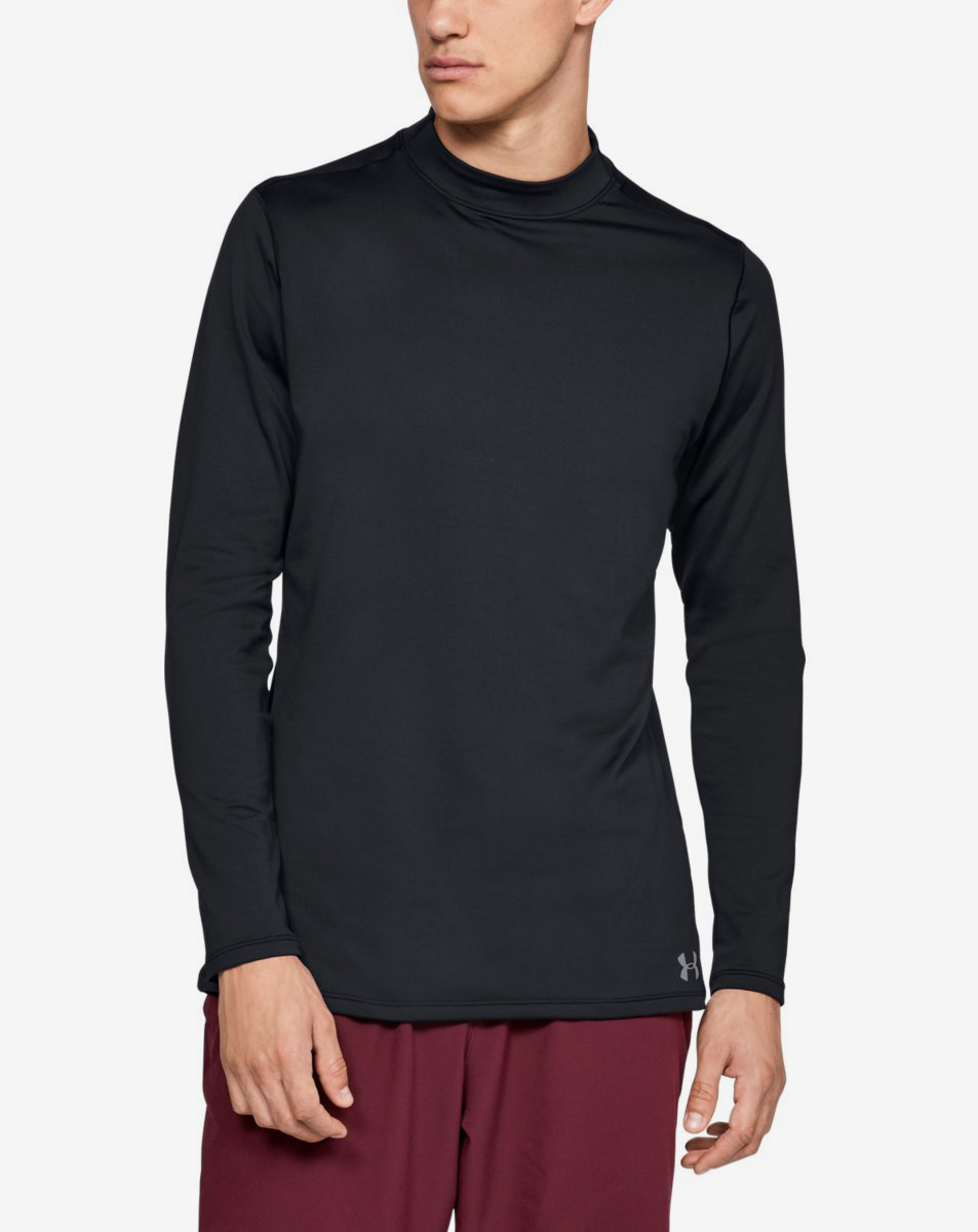 UA CG Armour Mock Fitted-BLK