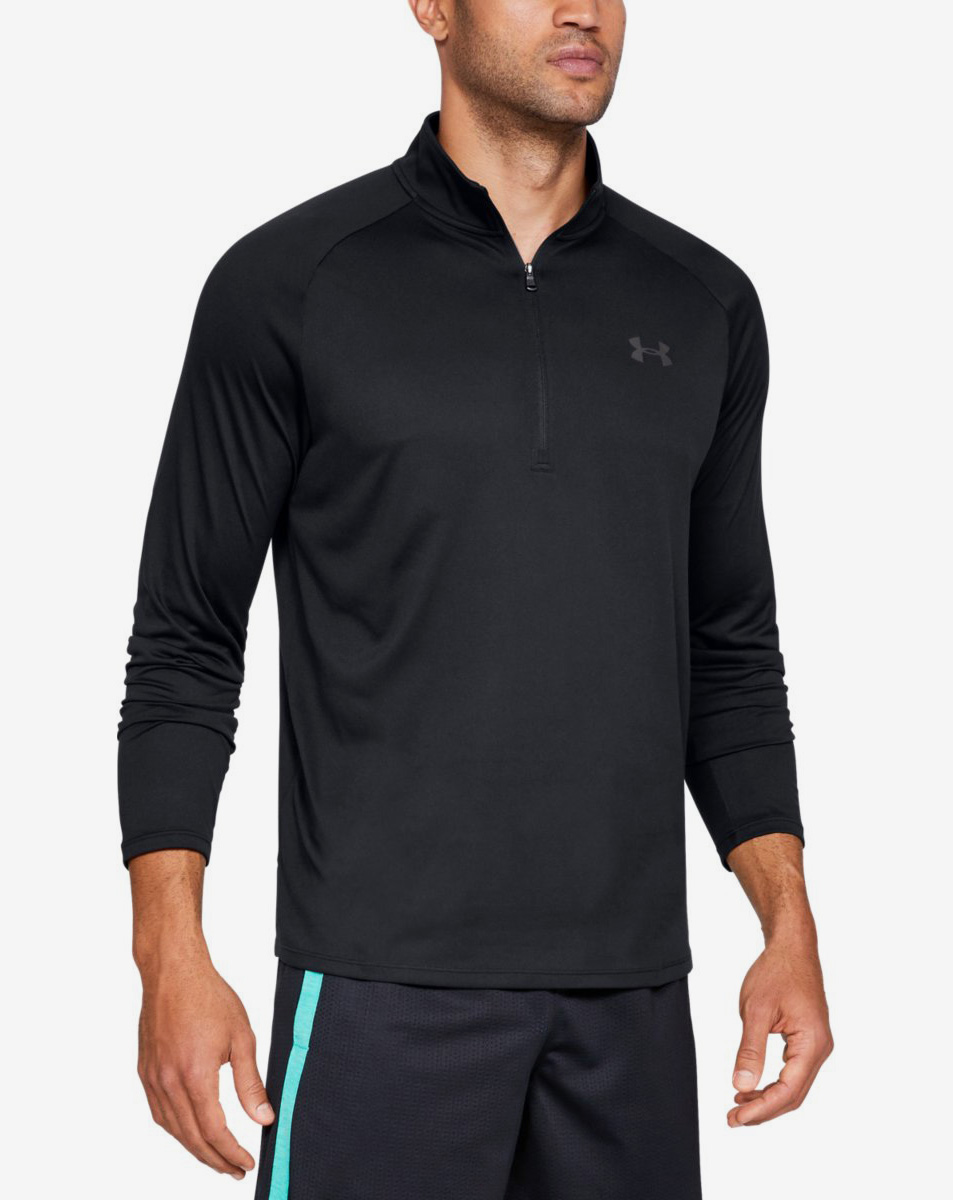 UA Tech 2.0 1/2 Zip-BLK