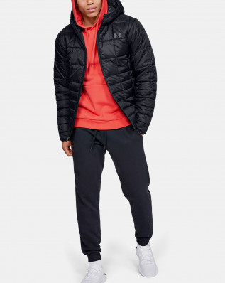 UA Armour Insulated Hooded Jkt-BLK