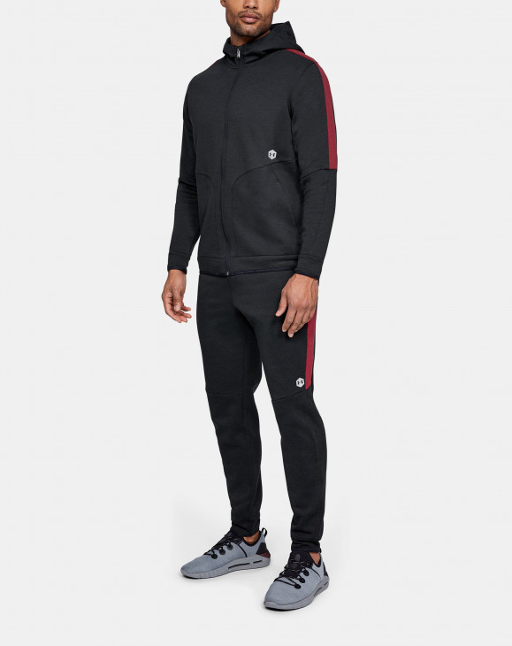 detail Athlete Recovery Fleece Full Zip-BLK