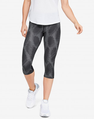 W UA Fly Fast Printed Speed Capri-BLK