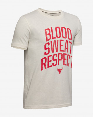 Project Rock Blood Sweat Respect SS-WHT