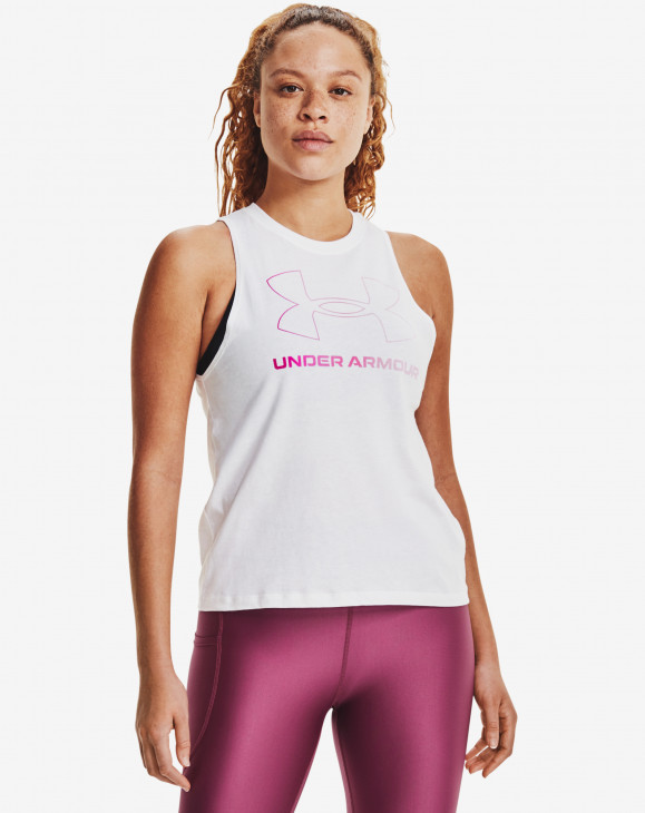 detail Live Sportstyle Graphic Tank-WHT