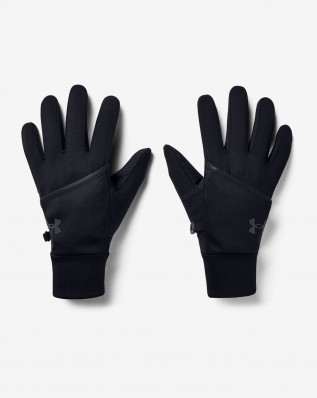 UA M Convertible Run Gloves-BLK