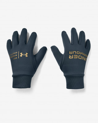 UA M Graphic Liner Glove-BLU