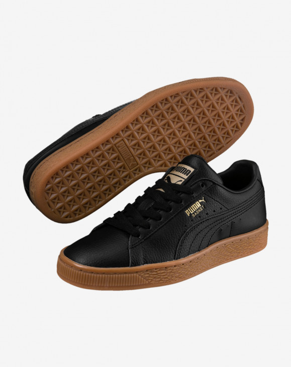 detail Basket Classic Gum Jr Puma Black-Metalli