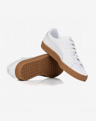Basket Classic Gum Jr Puma White-Metalli