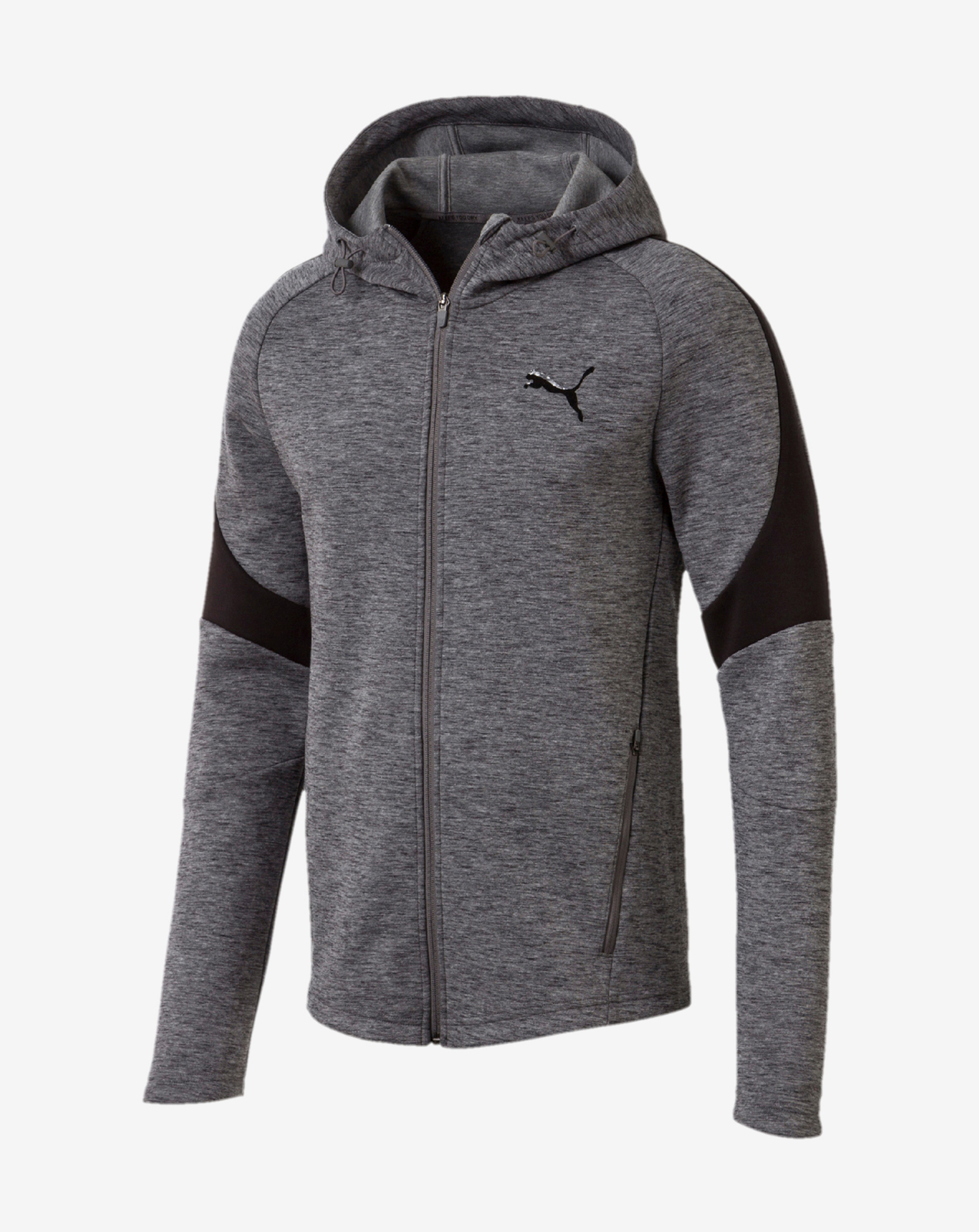 detail Evostripe FZ Hoody Medium Gray Heather