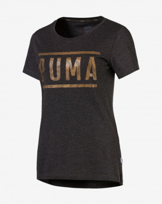ATHLETIC Tee Dark Gray Heather-bronze Me