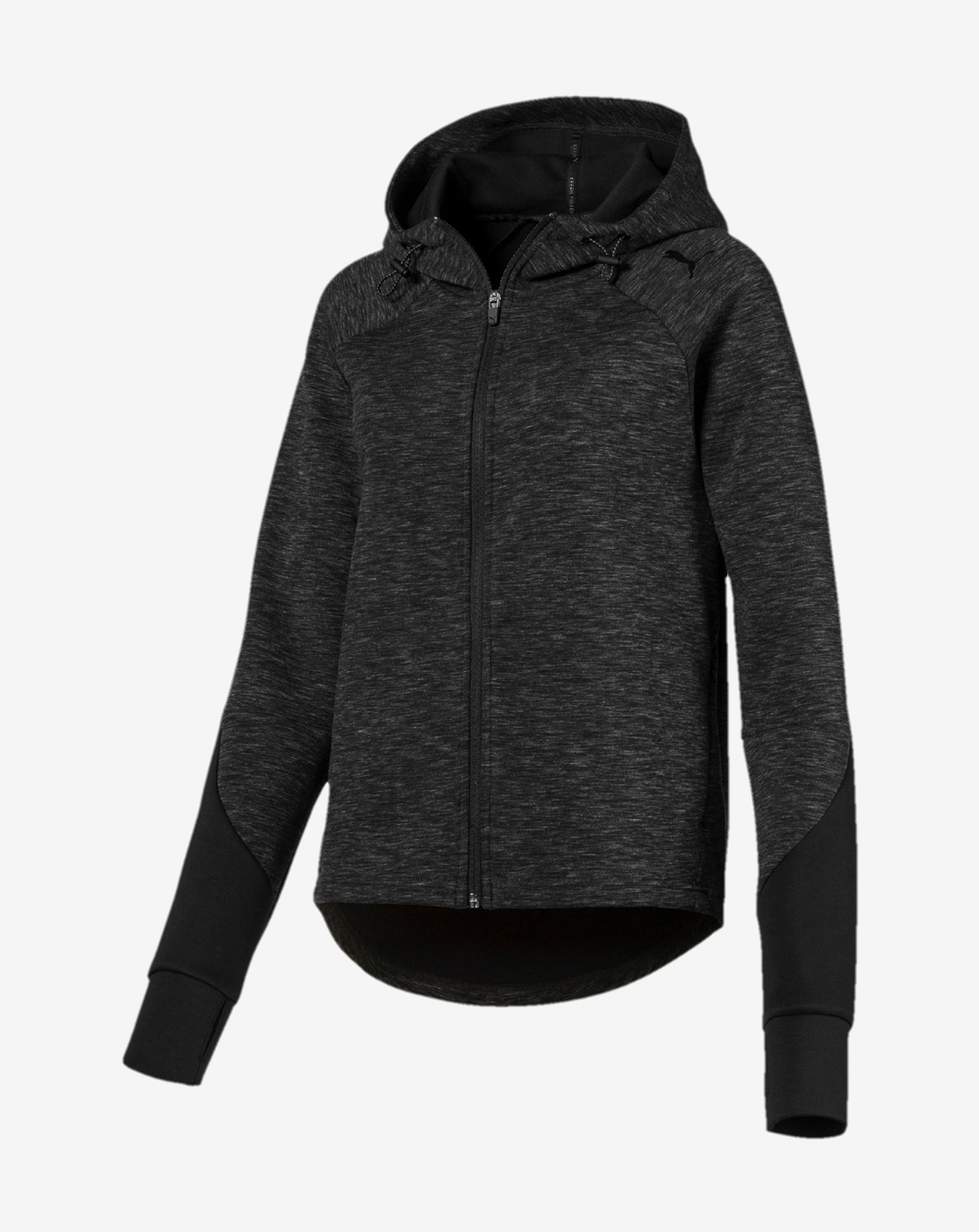 detail EVOSTRIPE FZ Hoody Cotton Black-heather