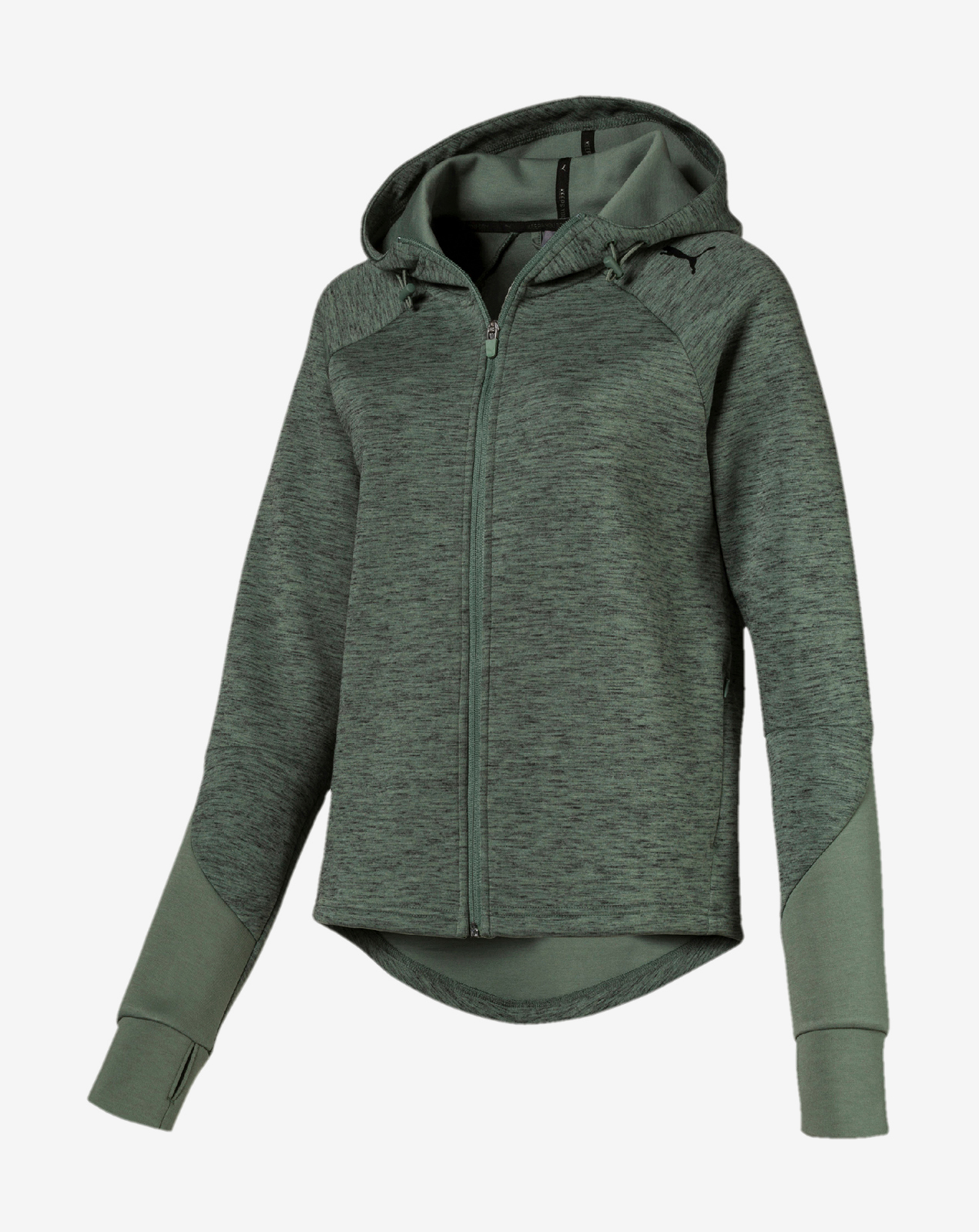 náhled EVOSTRIPE FZ Hoody Laurel Wreath-heather