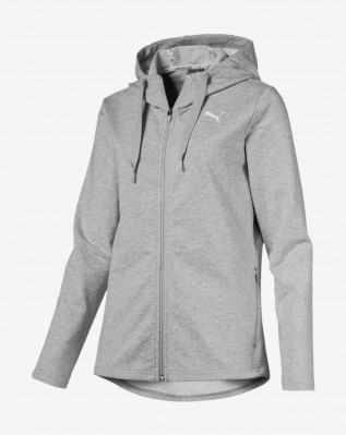 MODERN SPORT FZ Logo Hoody Light Gray He
