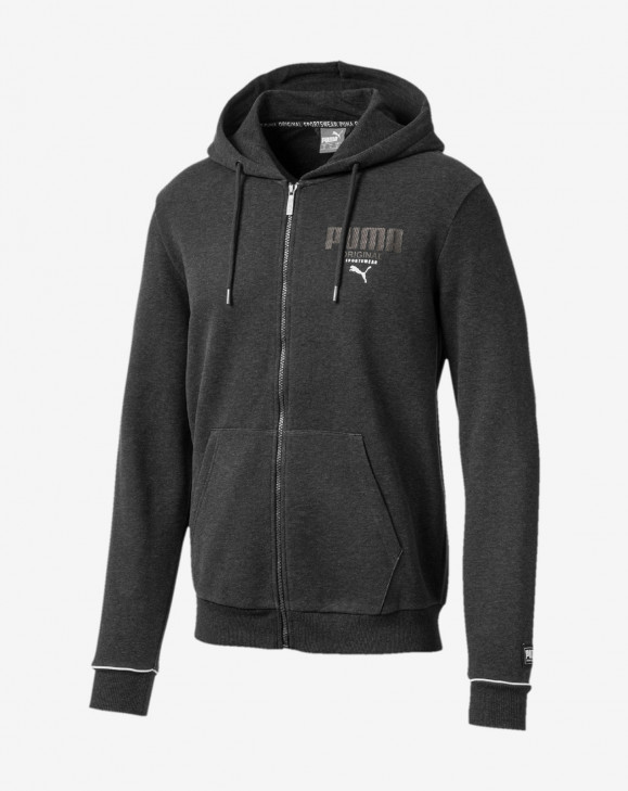 detail Athletics FZ Hoody FL Dark Gray Heather