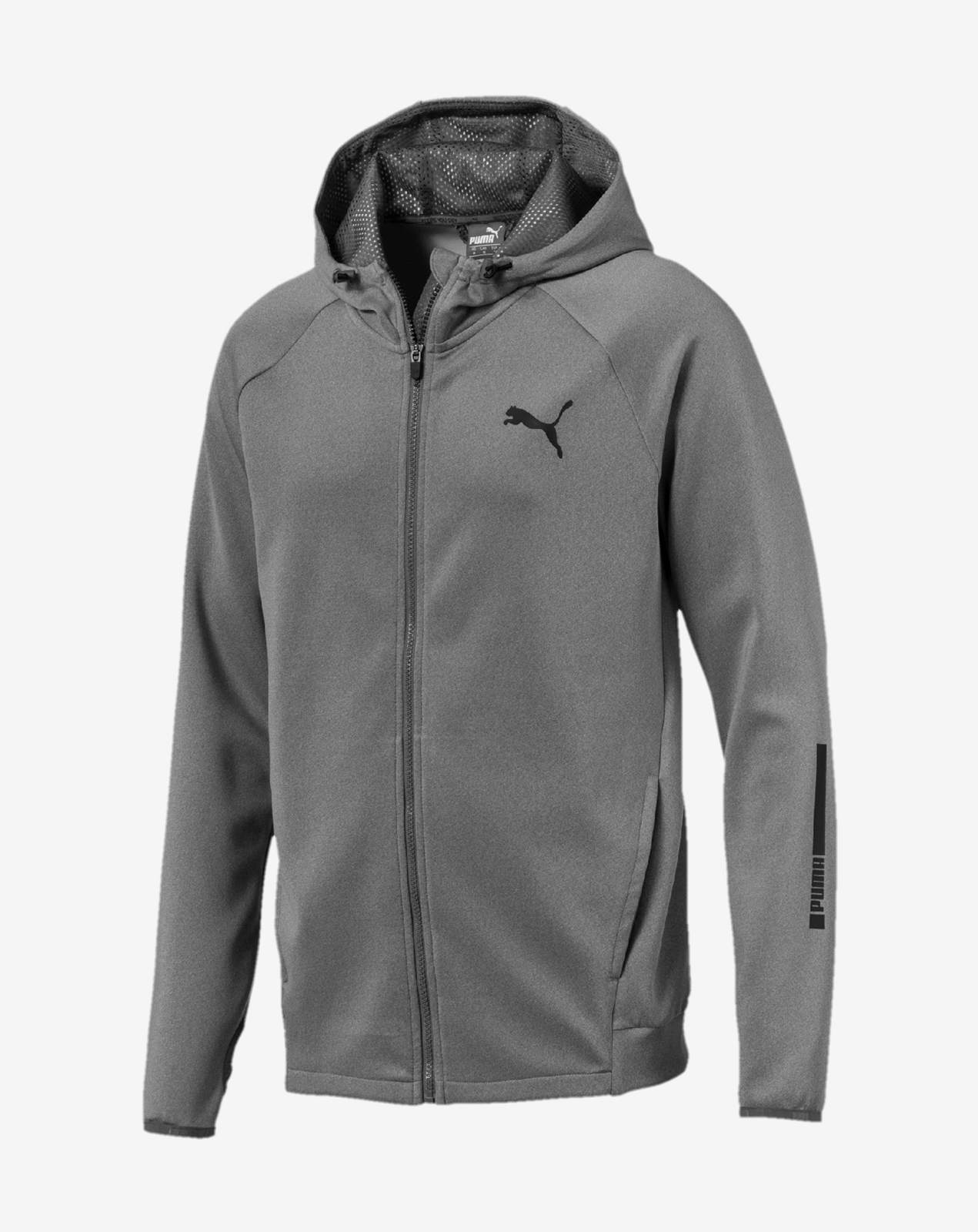 Tec Sports FZ Hoody Medium Gray Heather