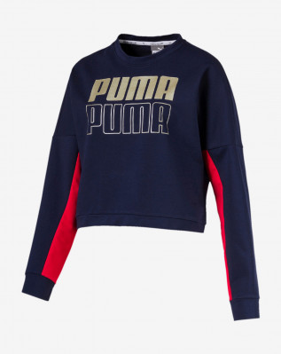 MODERN SPORT Crew Sweat Peacoat-gold