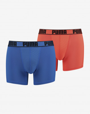 PUMA ACTIVE BOXER 2P PACKED blue orang