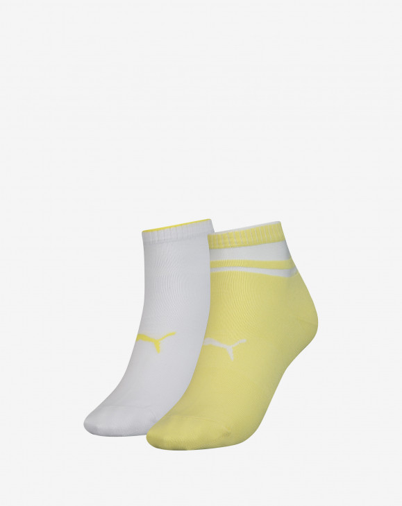 detail PUMA SHORT SOCK STRUCTURE 2P WOMEN yello