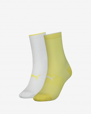 PUMA SOCK STRUCTURE 2P WOMEN yellow