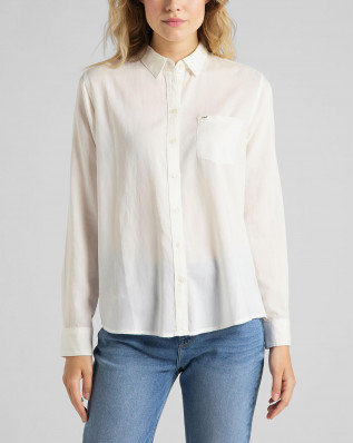 ONE POCKET SHIRT WHITE CANVAS
