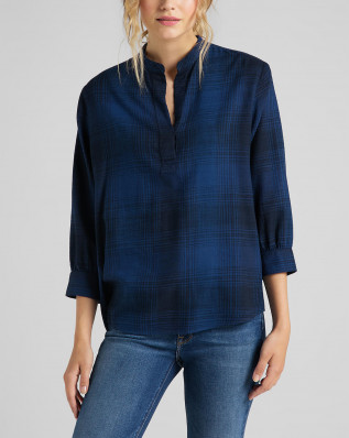 ESSENTIAL BLOUSE WASHED BLUE