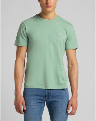 SS PATCH LOGO TEE GRANITE GREEN