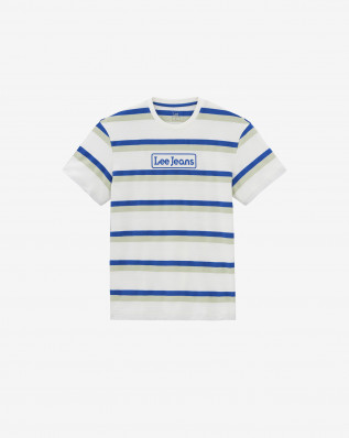 SEASONAL STRIPE LOGO ECRU