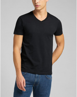 TWIN PACK V NECK BLACK