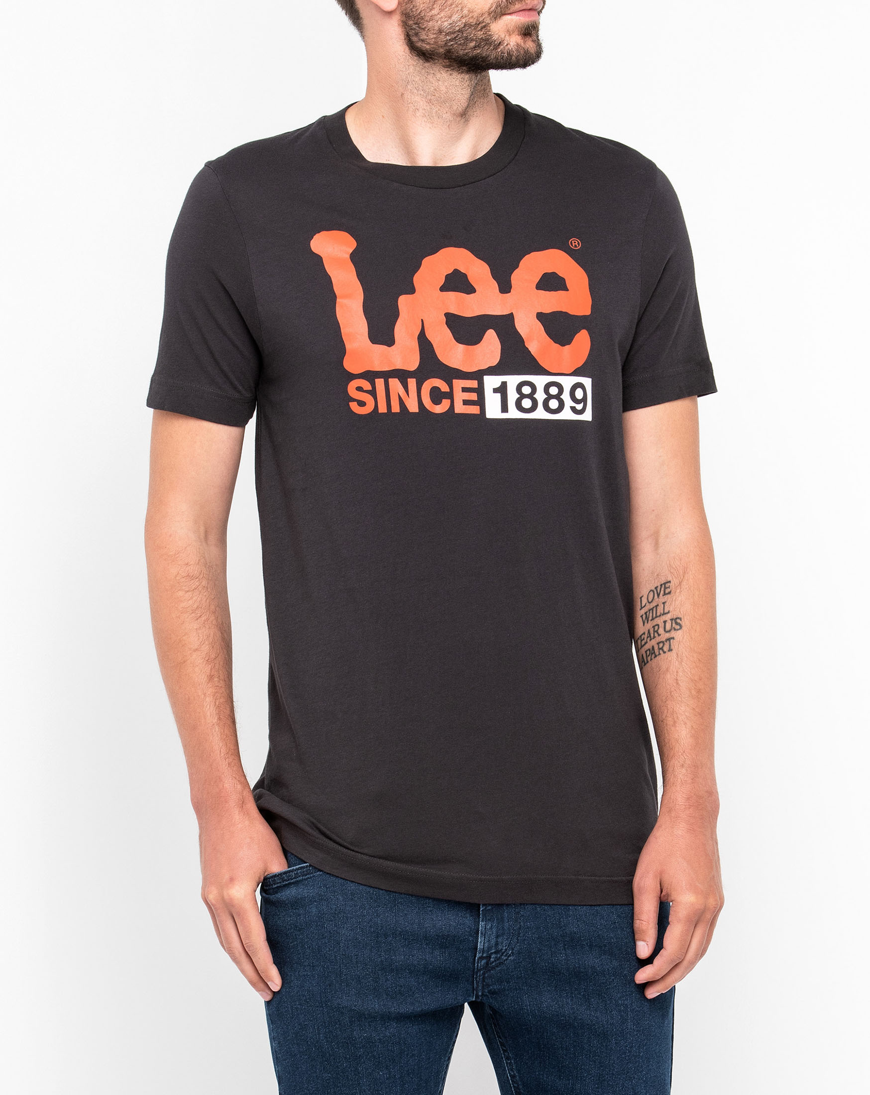 1889 LOGO T FADED BLACK