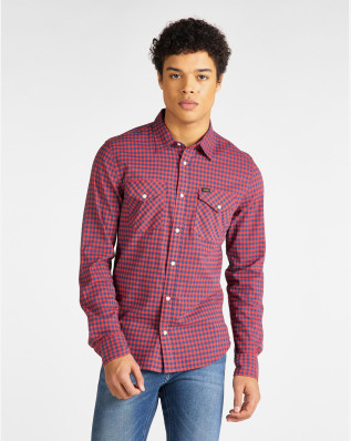 CLEAN WESTERN SHIRT POPPY RED