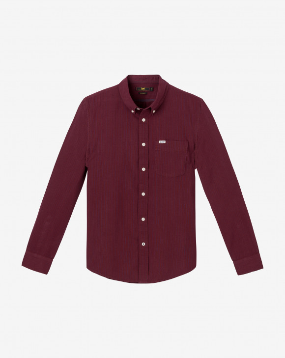 detail LEE BUTTON DOWN MAROON
