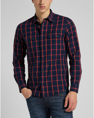 LEE RIDER SHIRT AURORA RED