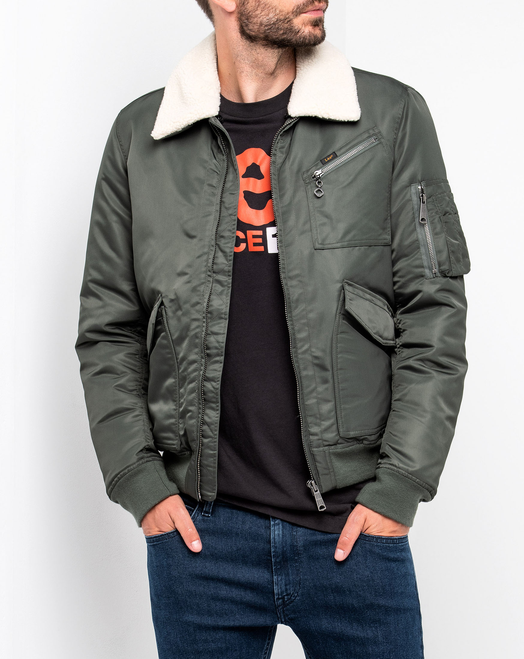 náhled FLIGHT ZIP JACKET GREY GREEN