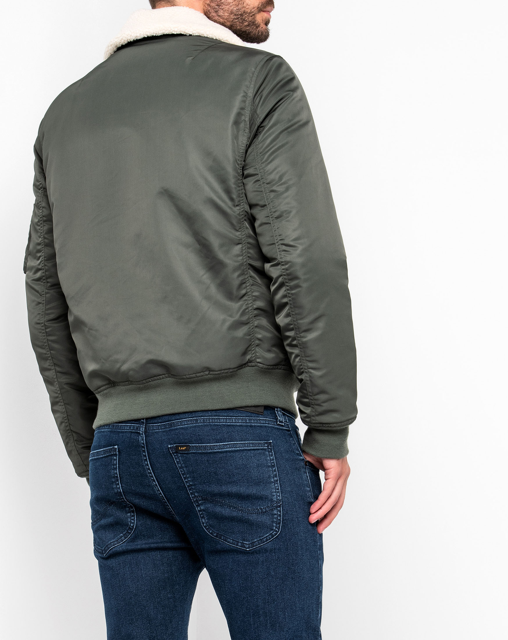 detail FLIGHT ZIP JACKET GREY GREEN