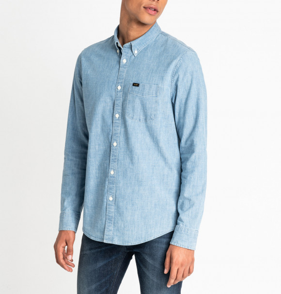 detail LEE BUTTON DOWN FROST BLUE