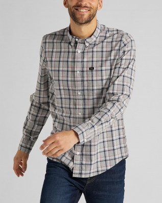 LEE BUTTON DOWN GREY MELE