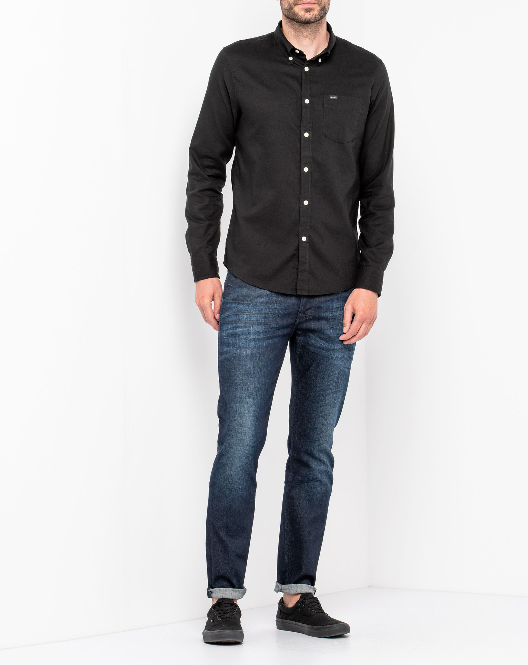 náhled LEE BUTTON DOWN PITCH BLACK