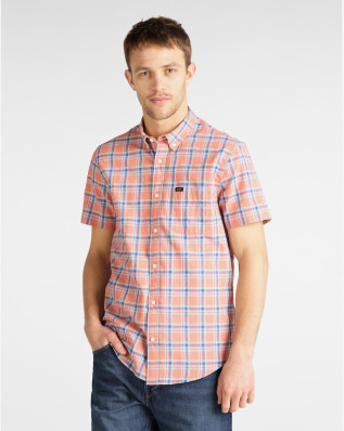 LEE BUTTON DOWN SS PAPRIKA