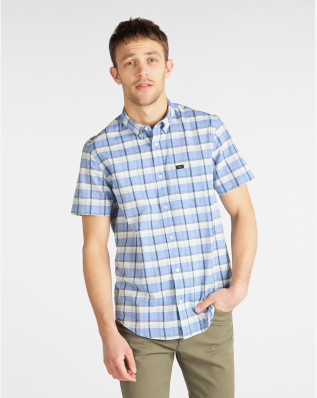 LEE BUTTON DOWN SS SUMMER BLUE