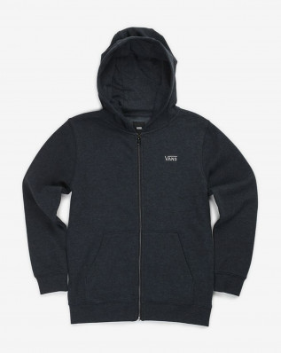 B CORE BASIC ZIP HOO BLACK HEATHER