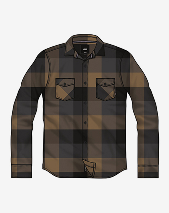BY BOX FLANNEL BOYS DIRT/BLACK