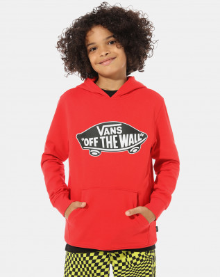 OTW PULLOVER FLEECE BOYS RACING RED-WHITE OUTLINE