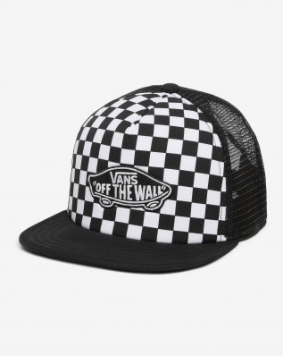 CLASSIC PATCH TRUCKER PLUS BOYS BLACK-WHITE CHECKERBOARD