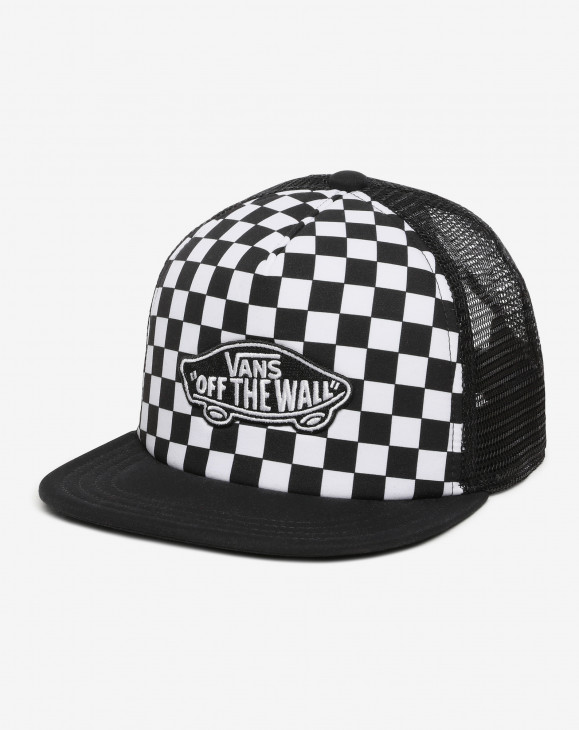 detail CLASSIC PATCH TRUCKER PLUS BOYS BLACK-WHITE CHECKERBOARD