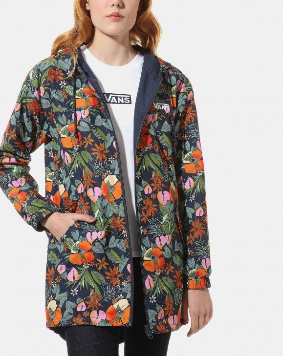 detail MERCY REVERSIBLE PARKA MULTI TROPIC