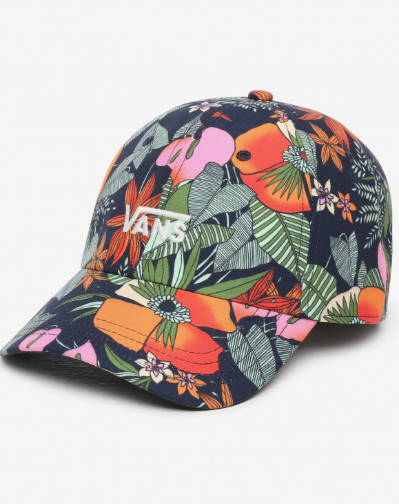 detail COURT SIDE PRINTED HAT MULTI TROPIC DRESS BLUES