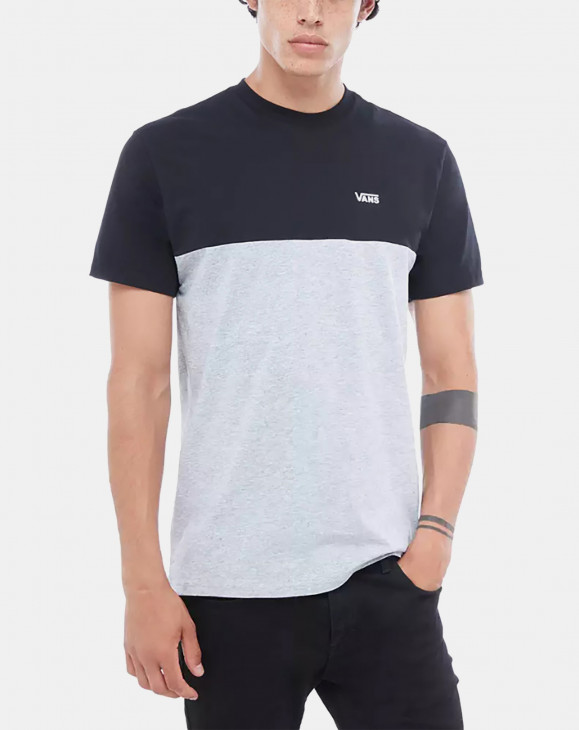 detail COLORBLOCK TEE BLACK-ATHLETIC HEATHER