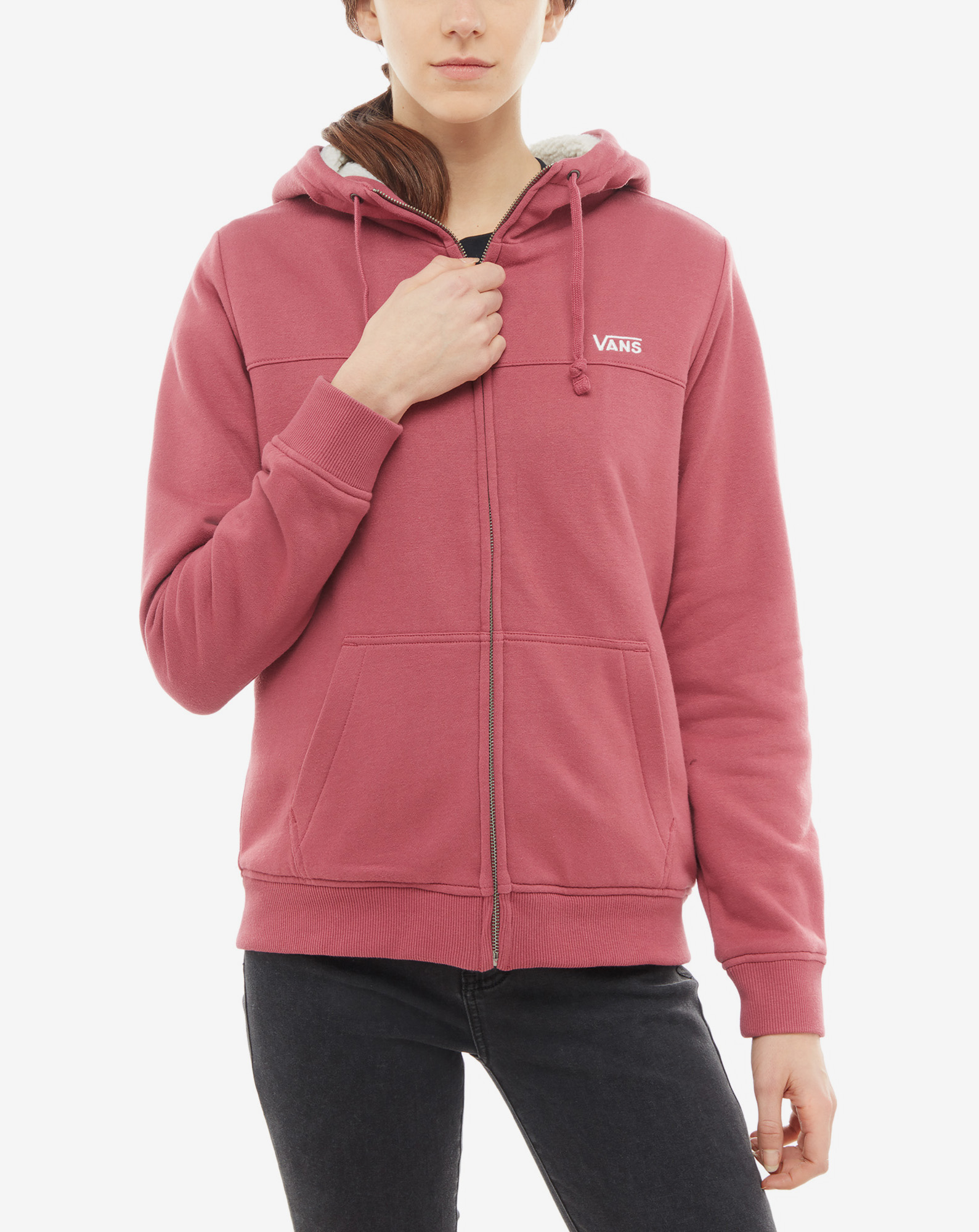 WM STEALTH ZIP HOODI DRY ROSE