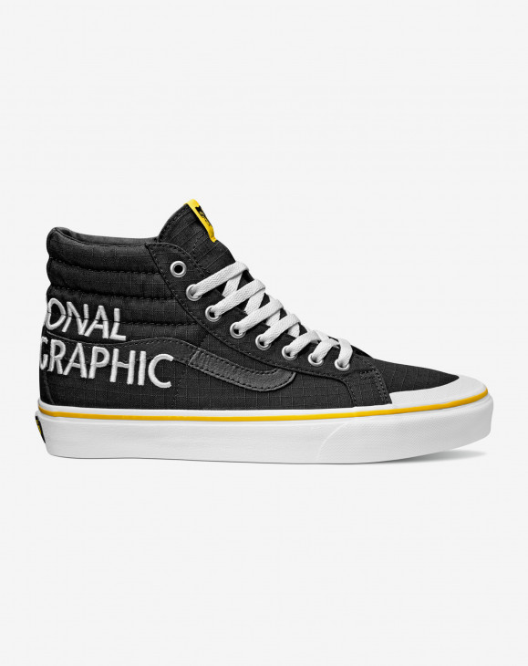 detail UA SK8-Hi Reissue 138 (National Geographic) logo